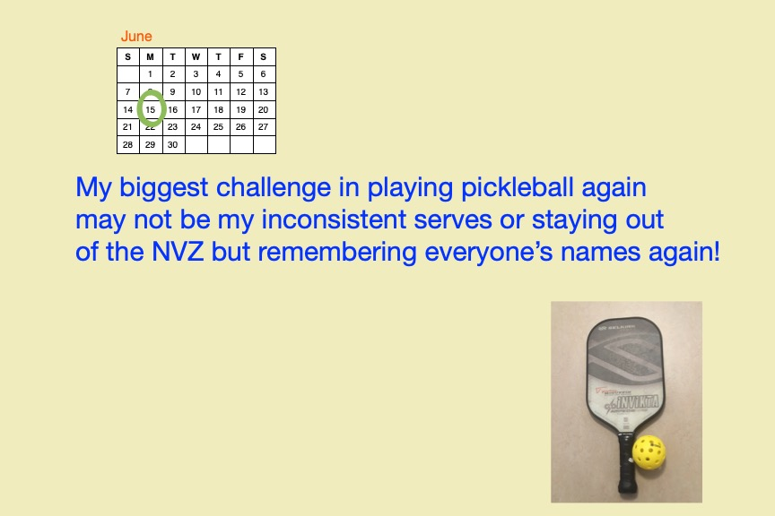 Pickleball challenge